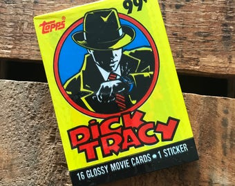 Vintage Dick Tracy Trading Cards - 2 Packs - Unopened - 90s Trading Cards, Vintage Halloween Cards, Dick Tracy Movie Cards, Topps Cards