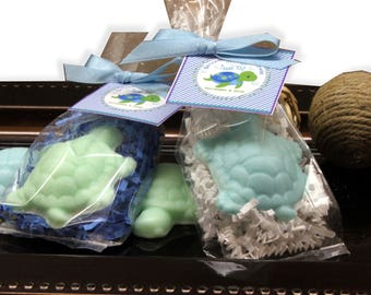 20 Turtle Soaps Soap Favors Party Favors  Baby Shower Bridal Shower Birthday Wedding Custom Party Favors