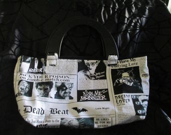 Black and White Monster Purse