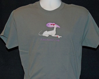 SS23 Embroidered Greyhound T shirt - Sophisticated Lady