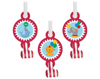 Circus Party Favors - Circus Birthday Favors, Circus Favors, Carnival Favors, Carnival Birthday, Big Top Circus, Carnival Party Supplies