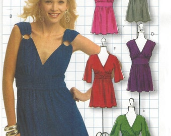Womens Boho Tops, Tunics & Dress OOP McCalls Sewing Pattern M5662 Size 16 18 20 22 Bust 38 to 44 UnCut DIY Style Patterns