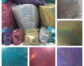 Radiant Holographic Glitter Cosmetic Grade .008 Ultrafine | BULK up to a pound  Makeup Craft Nail Glitter Pink Silver Gold Purple Blue