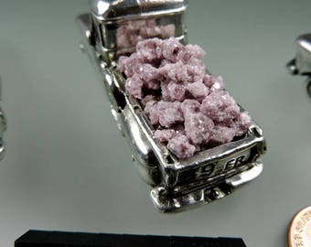 Lepidolite Inlay #32, Hand Crushed Lepidolite Inlay, Wood Inlay, Jewelry Inlay, Chip Inlay, Gem Inlay, Gift, Thegrindingshed