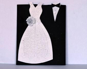 Wedding Card, Wedding Day Card, Wedding Congratulations Card, Bride and Groom Card, Wedding Gift Card