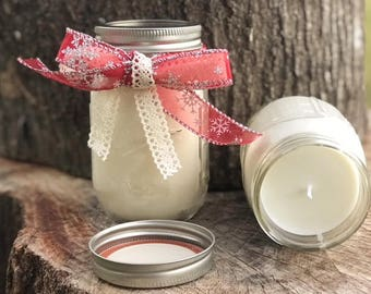 Custom Soy Mason Jar Candles