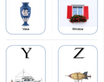 English Alphabet, Printable Flashcards