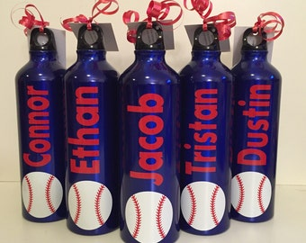 Personalized Aluminum Water Bottle for baseball, team sports, coaches, sports, coaches, cheerleading