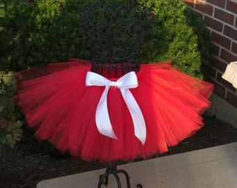 Christmas Day tutu -RED VELVET-  Girls red tutu - Baby red tutu- christmas tutu- Baby girl red tutu- recital tutus