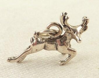 Vintage Sterling Leaping Deer Charm