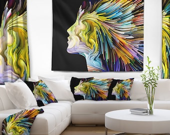 Designart Endless Imagination Abstract Wall Tapestry, Wall Art Fit for Wall Hanging, Dorm, Home Decor