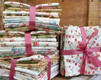 A Dozen Roses...12 fat quarter bundle...exclusive grouping