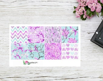 Planner stickers Happy planner mini boxes in purple