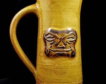 Stoneware Face Mug