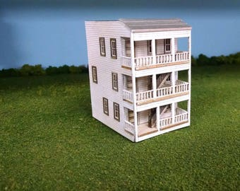 Train Time Laser N Scale Meadows Apartment Building Kit
