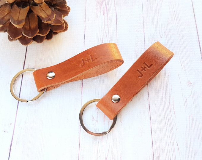 Featured listing image: Couple Leather Keychains (2 pcs)