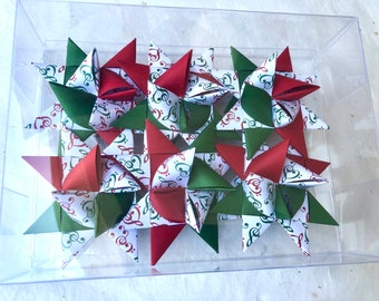 Moravian Paper Star Ornaments ~Holiday Music IIII (3 inch)