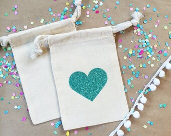 Glitter heart bag- Hangover Kit bag- Bachelorette Party Favor bag-Wedding Favor-Hangover Kits Bags-DIY Party Hangover Bags- Wedding Hangover