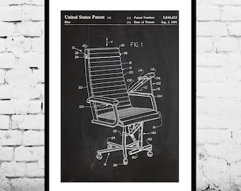 Office Chair Patent, Office Chair Poster, Office Chair Print, Office Chair Art, Office Decor, Office Chair Blueprint, Office Chair Design