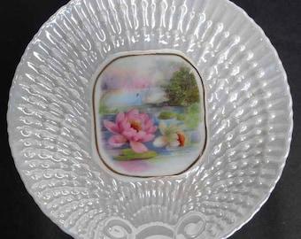 Swan Lustre Plates Vintage Set 4