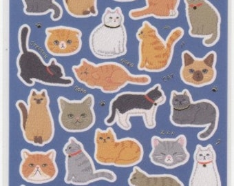 Cat Stickers - Neko Stickers -  Japanese Stickers - Mind Wave Stickers - Reference A6467