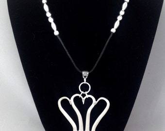 """Fork """"Heart"""" Necklace #1021"""