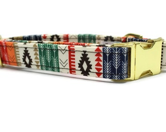 Colorful Tribal Dog Collar | Your choice of metal buckle or plastic buckle | Tribal Dog Collar | Girl Dog Collar | Boy Dog Collar