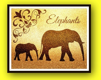 Elephant Gifts, Elephant Nursery, Instant Downloadable Print, Elephant Print, Wall Art, Boy, Girl, Baby, Nursery Print, Nursery Decor, Art