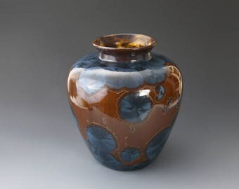 "Classic Vase - Crystalline Glaze - ""Fiery Sand"""