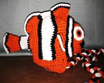 Crocheted Nemo hat