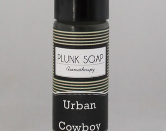 Urban Cowboy Roll on Cologne:  Amber, Patchouli, Oak Moss & Sandalwood