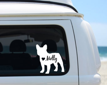 French Bulldog Decal | Personalized French Bulldog decal | Car Decal | Laptop Decal | Notebook Decal | Window Decal | Frenchie