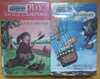 Two Freddy the Pig books written  by Walter R. Brooks, illustrated by Kurt Wiese: Freddy and the Perilous Adventure, and Freddy Goes Camping