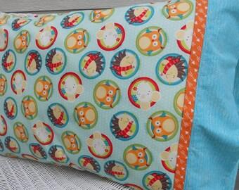 Kids Pillowcase, Kids Bedding, Girls, Boys, Toddler, Animal Dots, Gift Under 20, Birthday Gift, Gender Neutral, Standard Size Pillowcase