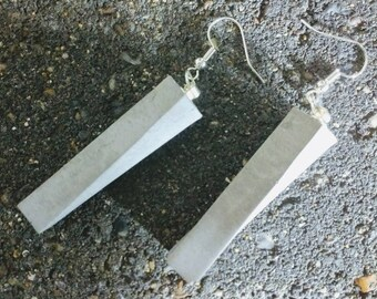 Brutalist / modernist concrete earrings - 'Twisted'
