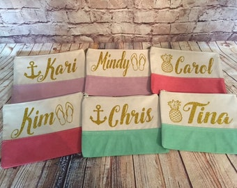 Cosmetic bags/ coin keychains/ personalized bag