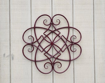 Large Metal Wall Art / Metal Wall Decor / Scrolled Metal Wall Decor /  Wrought Iron
