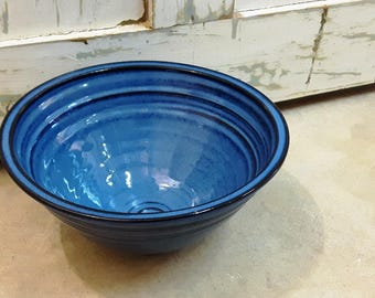 Mixing bowl – Pottery extra large bowl, Ceramic, Stoneware, Handmade, Wheel thrown
