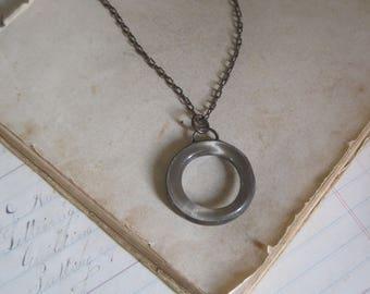 Recycled Bottle Glass Bib Necklace Eco Friendly Jewelry