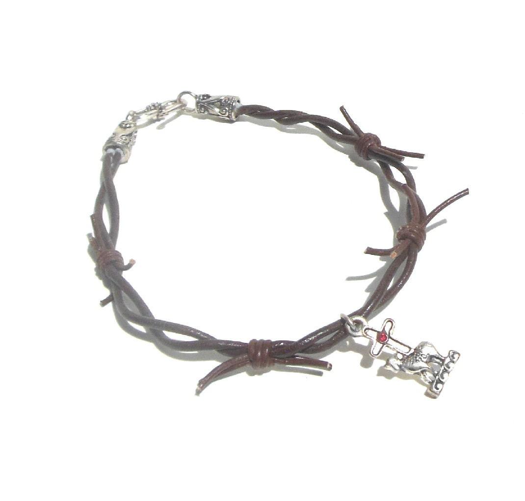 Südwestlichen Lederarmband Barb Wire Krone von Dornen