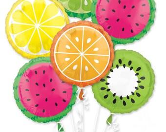 Tropical Fruit Balloons - Watermelon Balloon - Lemon Balloon - Lime Balloon - Orange Balloon - Kiwi Balloon - Summer Party - Twotti Frutti