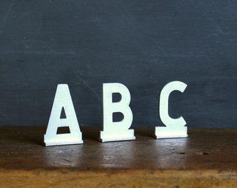 Vintage Aluminum Letters - ABC - Set of 3
