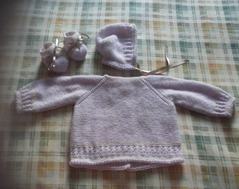 Lavender baby set