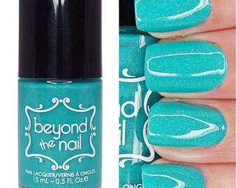 Astral - Summer Galaxy 2.0 Nail Polish - Neon Teal Subtle Holographic