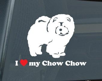 I Love My Chow Chow Die Cut Vinyl Sticker - 515