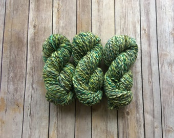 Handspun BFL & Silk Chunky 3ply Yarn - Hand Dyed by Miss Babs and Cloudlover