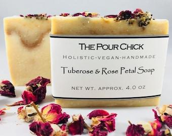 Tuberose & Rose Petal Soap