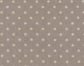 Moda Mochi Linen Dots - Putty - 1/2yd
