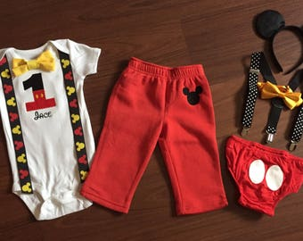 Mickey Mouse 1st Birthday baby boy outfit, baby boy first birthday Party
