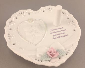 Precious moments forever true wedding couple heart ring holder - 491551